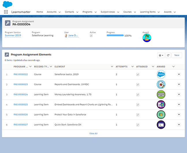 LMS Salesforce - Learnsmarter App